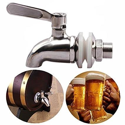 SODIAL Grifo llave de acero inoxidable Grifo de cerveza de barril para casa fermentador de cerveza