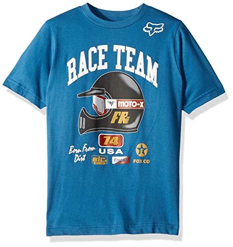 (Fox Boys' Big Youth Speedway Short Sleeve T-Shirt, Dusty Blue, YL)