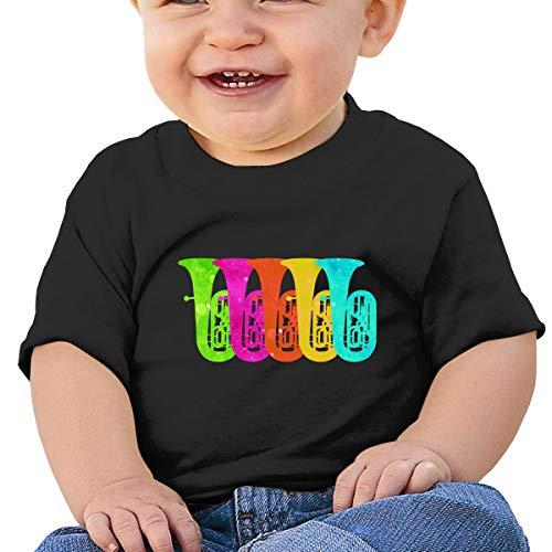Lixue Retro Vintage Tuba Baby Boys' Infant Crewneck Short Sleeve Tees