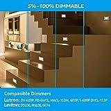 LEONLITE 120V Step Lights White Dimmable Indoor LED