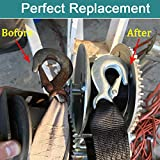 Botepon Marine Boat Trailer Winch Strap with Hook