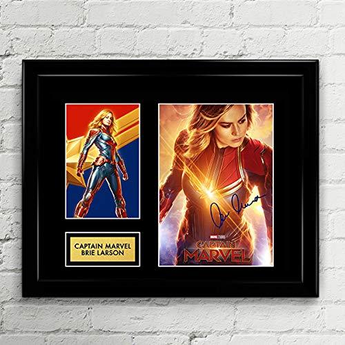 Brie Larson Captain Marvel Signed Autographed Photo Mat Custom Framed 11 x 14 Replica Reprint Rp