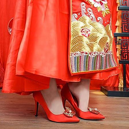 KPHY Chaussures pour FemmesSandales du Cuir des Talons De