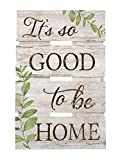Cheap P. GRAHAM DUNN It's Good to Be Home Whitewash 10 x 15.5 Wood Skid Pallet Wall Plaque Sign