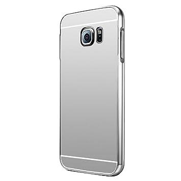 Ultra Slim Coque Cuir PU et Plastique Rigide Portefeuille Miroir Anti Choc Coque pour Samsung Galaxy S6-Or SainCat Coque Galaxy S6 Miroir Portefeuille