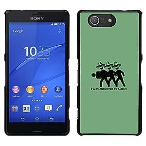 Sony Xperia Z3 Compact / Z3 Mini (Not Z3) - Metal de aluminio y de plástico duro Caja del teléfono - Negro - Mexican Aliens - Funny