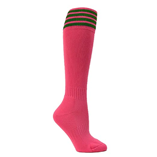 Amazon Com Pink Striped Youth Breast Cancer Awareness Sport Knee
