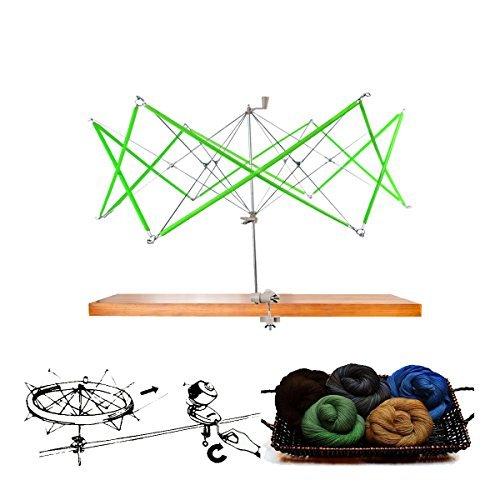 artSew Hand Operated Knitting Umbrella Swift Wool Yarn String Winder Holder Hanks Skeins Line Knitting Tool, for Swift Winding Lines, Laces, Yarns, Fiber or Other Strings