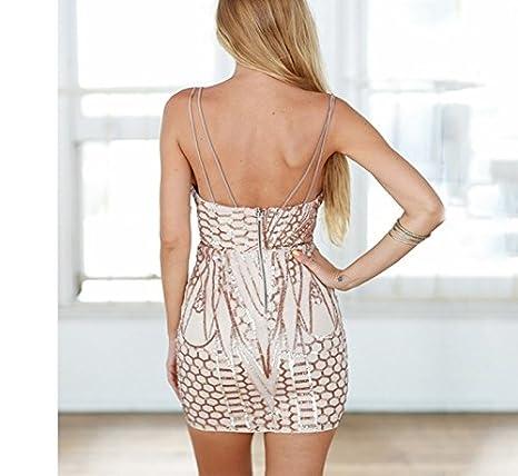 Vestidos De Fiesta Sexys Cortos Ropa De Moda Para Mujer y Noche Elegante Casuales (M) at Amazon Womens Clothing store: