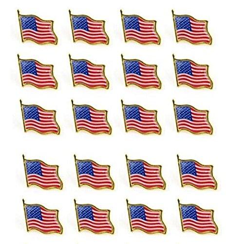 Bassion 20 PCS American Flag L