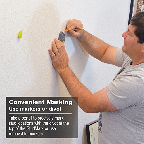 Calculated Industries 7310 StudMark Magnetic Stud Finder with 2 Removable Magnet Markers | Finds & Marks up to 3 Stud Locations | Powerful Rare Earth Magnets, No Batteries Needed by Calculated Industries (Image #4)