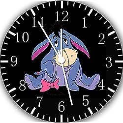 Borderless Winnie The Pooh Eeyore Frameless Wall Clock E291 Nice for Decor Or Gifts