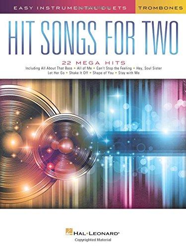 Easy Instrumental Duets Hit Songs  For Two Trombones   Book   Noten Für Posaune
