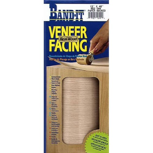 Band-It 12410 Paper Back Real Wood Veneer Facing, Red, used for sale  Delivered anywhere in USA