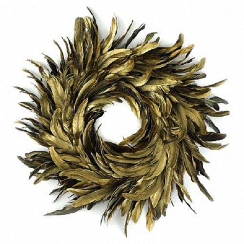 Natural Schlappen Feather Christmas Wreath 18
