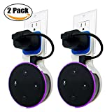 #6: Echo Dot Wall Mount Case Holder Stand for Alexa Dot 2nd/Echo Dot Kids Edition TOOVREN Space-Saving Hanger for Smart Speaker - Short Charging Cable Included (2 Pack)