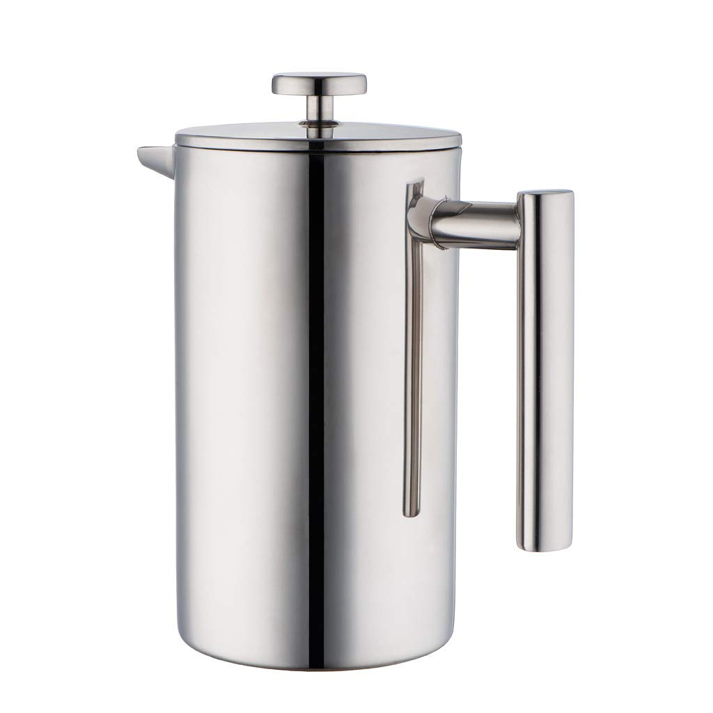 MIRA Stainless Steel French Press Coffee Maker | Double Walled Insulated Coffee & Tea Brewer Pot