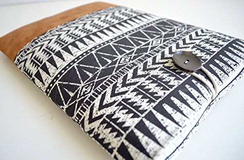 BertiesCloset-Laptop-Cover-Sleeve-MacBook-Pro-or-Air-Protective-Case-Custom-Sized-Fit-for-Your-Device-Aztec-Suede