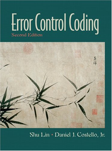 Error Control Coding (2nd Edition) by Pearson