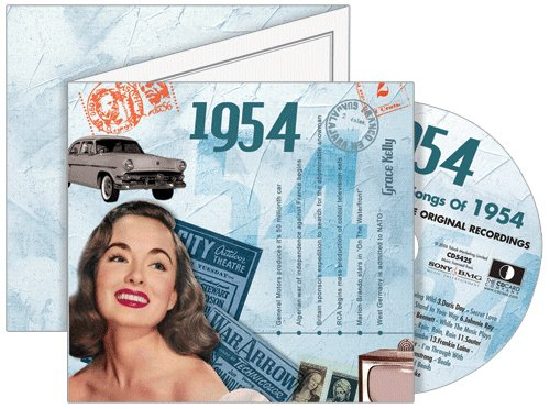 1954 Classic Years CD Greeting Card : 64th Birthday or 64th Anniversary ()