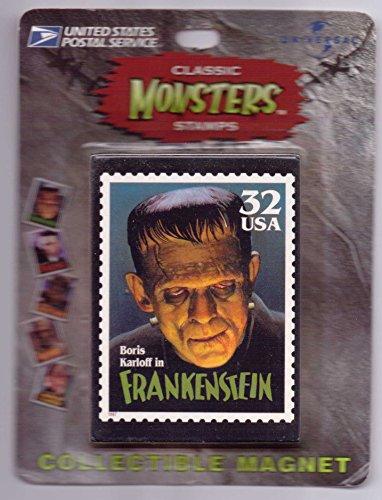 Boris-Karloff-Classic-Monsters-USPS-Stamp-Magnet-Frankenstein