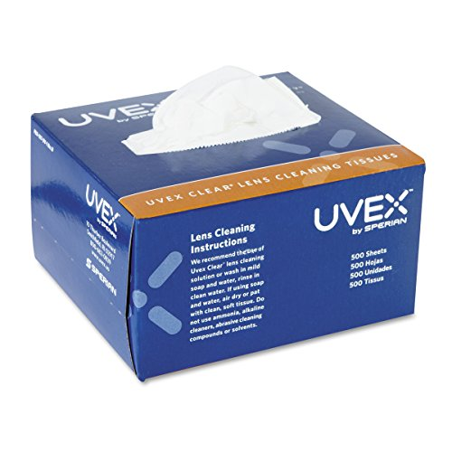 Uvex Clear Lens Cleaning Tissues, (500 Ct Box)