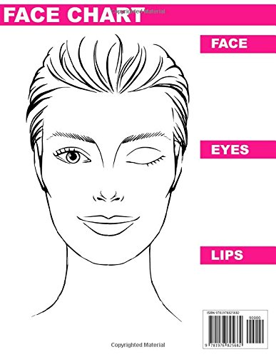 2018 Makeup Artist Blank Face Charts: Eye Make Up Chart Large Notebook Paperback – January 7, 2018