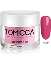 TOMICCA Acrylic Powder Dipping Powder for Nails 2 Ounce (Rose Red)