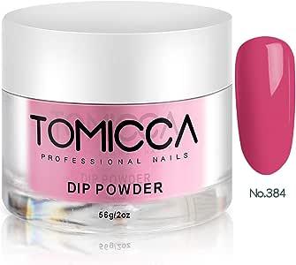 TOMICCA Nail Dipping Powder Dip Powder, 56g per Jar (Rose Red 384)