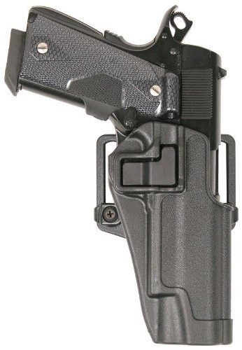 AGPtek Speed Immediate Retention & Audible Click Black Tactical Holster Right Hand Paddle & Belt Holster for Colt 1911