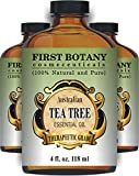 Tea Tree Oil (Australian) 4 Fl.oz. with Glass Dropper 100 % Pure and Natural Therapeutic Essential Oil to Help in Fighting Dandruff, Acne, Toenail Fungus, Yeast Infections, Cold Sores & More...