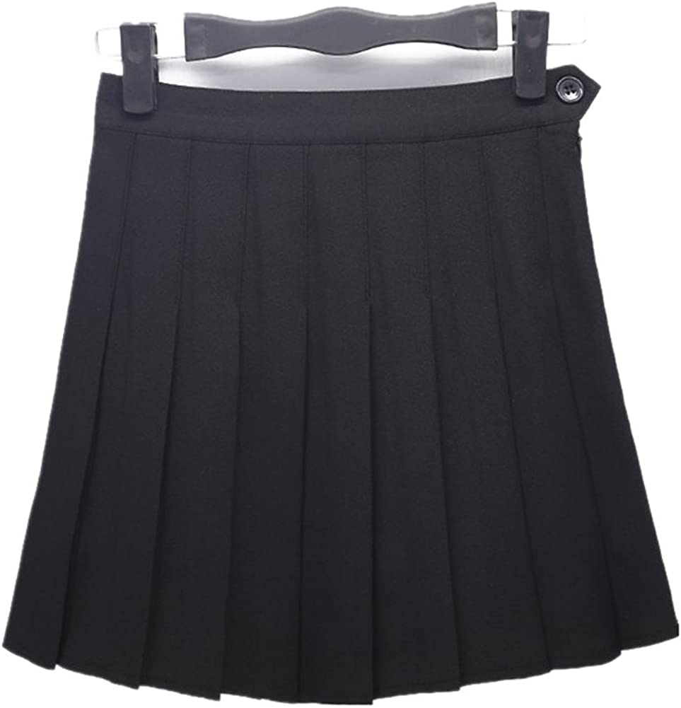 Drasawee Korean Style Short High Waist A Line Pleated Skirt School