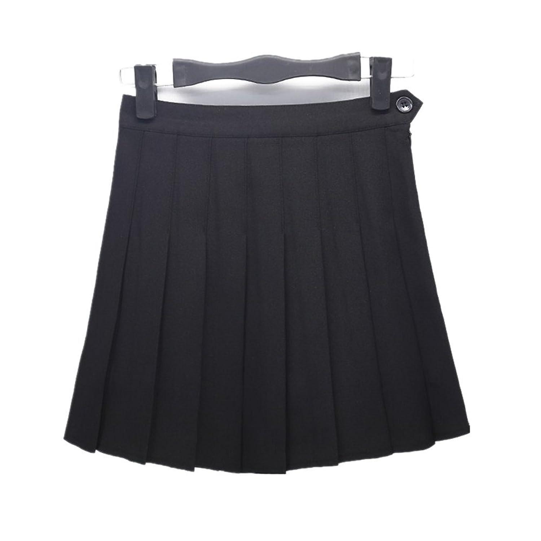 Drasawee Korean Style Short High Waist A Line Pleated Skirt School ...