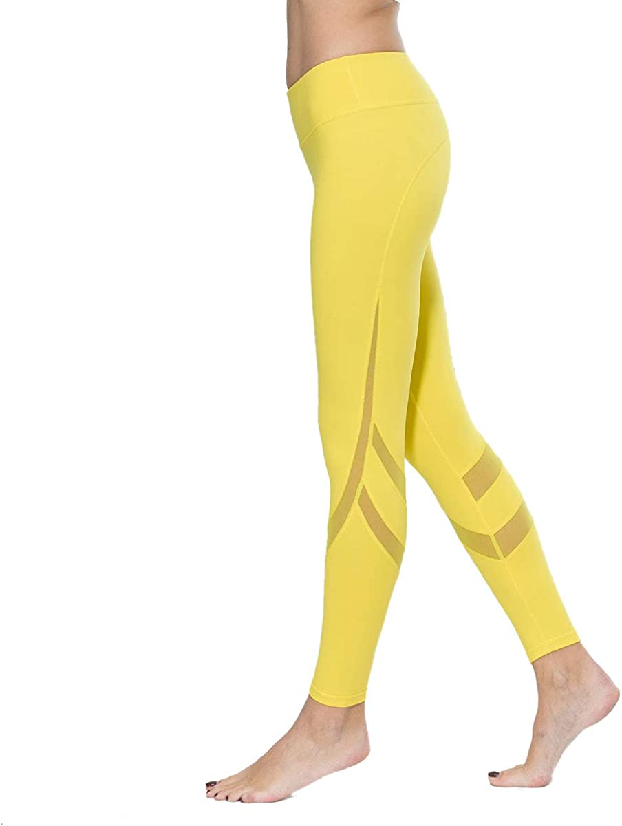 Ankle Length Yoga Pants for Workout Running Fitness LOVESOFT Mesh Leggings for Women High Waist and Non See-Through