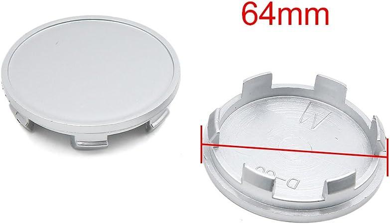 4Pcs 64mm Dia Plastique 6 Lugs Chapeau moyeu Roue Jantes Voiture h/ôtel Couvre