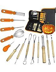 Halloween Pumpkin Carving Kit, Halloween Jack-O-Lanterns 13 Piece Professional Pumpkin Cutting Supplies Tools Kit, Pumpkin Carving Kit for Kids and Adult