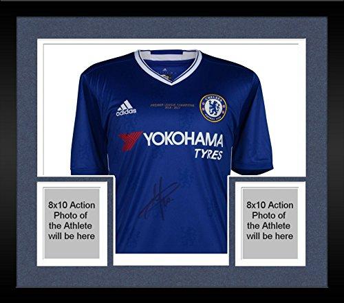 Eden Framed - Framed Eden Hazard Chelsea Autographed 2016-17 Home Jersey - Fanatics Authentic Certified - Autographed Soccer Jerseys