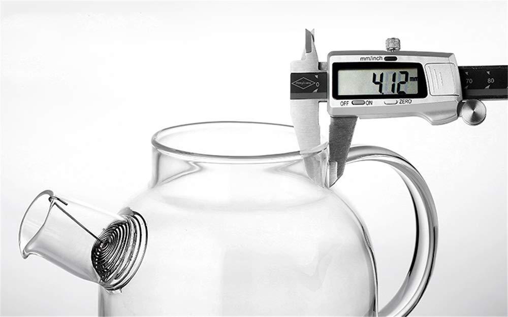 1000Ml zcbgyks Jarra Agua Cristal Tetera De Vidrio Resistente Al Calor De Borosilicato Resistente Al Calor A Prueba De Explosi/ón De Alta Temperatura