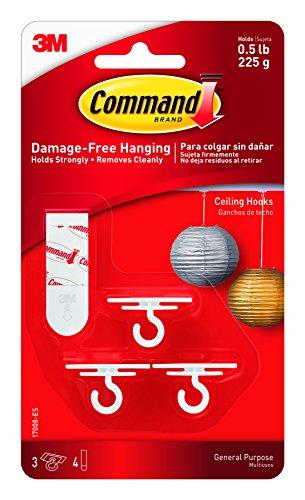 Command Hooks Ceiling Light, Multicolour, 9.8x 17.2x 2.7