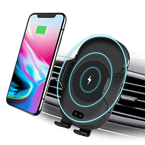 - Kitbeez Wireless Car Charger, Automatic Qi Wireless Car Mount Infrared Motion Sensor Phone Holder for Car Air Vent 10W Fast Charging for Samsung Galaxy S9 S9 Plus iPhone X 8/8 Plus Qi Enabled Device