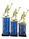 Male Lacrosse Award Trophy (3-Pack) 1st 2nd 3rd Place