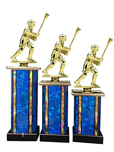 Male Lacrosse Award Trophy (3-Pack) 1st 2nd 3rd Place by Express Medals