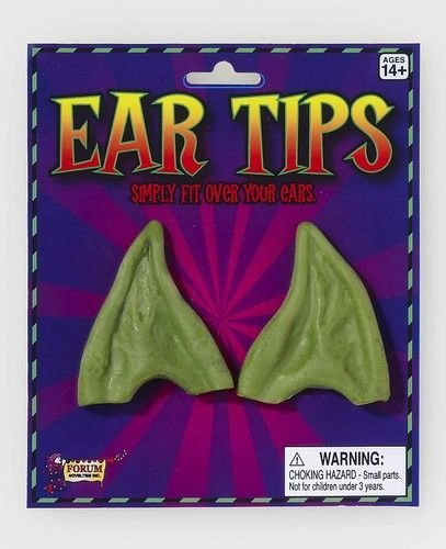 Forum Men's Pointed Elf Ears, Green, One Size ()