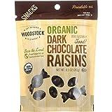Woodstock Snacks - Organic - Dark Chocolate Raisins - 8.5 oz - case of 8 - 95%+ Organic - Vegan