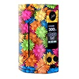 wax for e cig - Skin Decal Vinyl Wrap for Wismec Reuleaux RX Gen 3 300W Vape stickers skins cover/ Colorful Wax Daisies Flowers