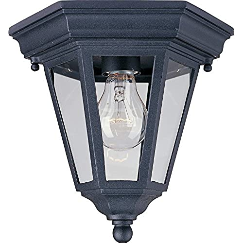 Mediterranean outdoor lights amazon maxim 1027bk westlake cast 1 light outdoor ceiling mount black aloadofball Gallery