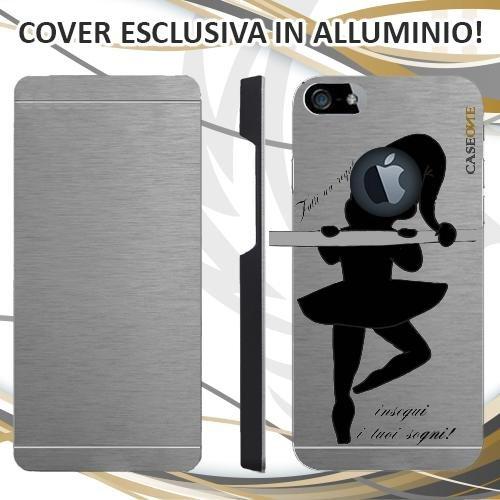 CUSTODIA COVER CASE CASEONE SOGNI DREAMS PER IPHONE 5 ALLUMINIO TRASPARENTE