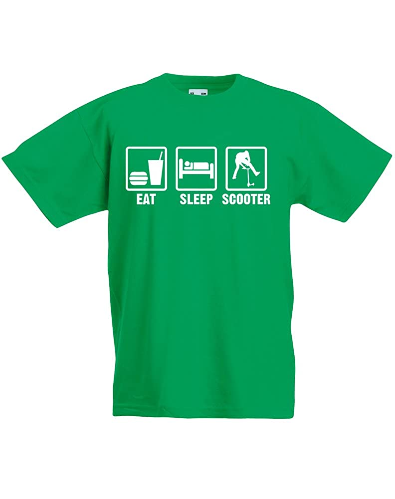 Eat Sleep Scooter, Kids Printed T-Shirt SS031_ES124