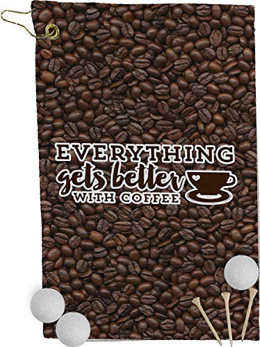 (RNK Shops Coffee Addict Golf Towel - Full Print (Personalized))