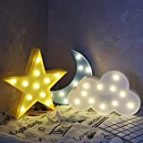 Gzero Sky LED Night Light, Decorative Marquee Signs Letter Lamp,3D Battery Operated led ligths Wall Decoration for Living Room,Bedroom,Home, Christmas,Party as Kids Baby Night Light Gift(Tricolor)